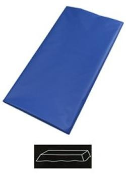 54in  x 108in Blue Plastic Tablecovers