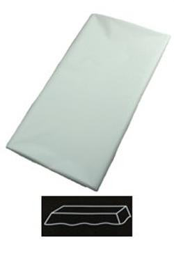 54in  x 108in White Plastic Tablecovers