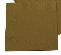 5in x 5in Gold Beverage Napkins