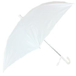 18in Long Nylon White Umbrella w/ Plain Edge