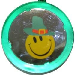 33in Clover Beads w/ Smiley Face with Leprechaun Hat Tunnel Light{lightup flashing blinkin