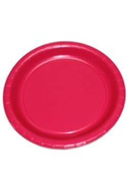 7in Hot Magenta Heavy Duty Plastic Plates