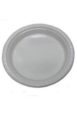 7in White Heavy Duty Plastic Plates