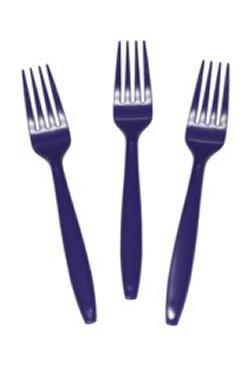 7in Purple Premium Heavyweight Plastic Forks