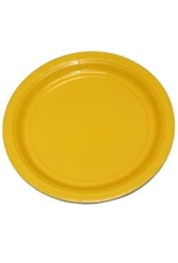9in Yellow Heavy Duty Plastic Plates