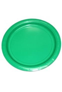9in Green Paper Plates