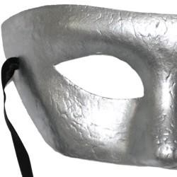Paper Mache Masks: Silver Eye Mask