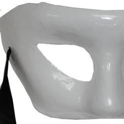 Paper Mache Masks: White Eye Mask