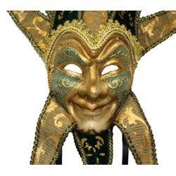 Paper Mache: Venetian Jester Masquerade Mask