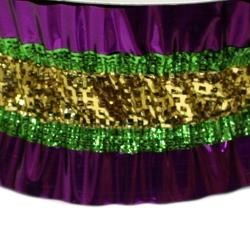 3in x 25ft Purple Green Gold Crinkle Ribbon