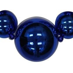 Big Balls Necklace: Metallic Blue