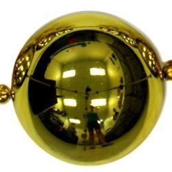 Big Balls Necklace: Metallic Gold