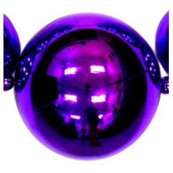 Big Balls Necklace: Metallic Purple