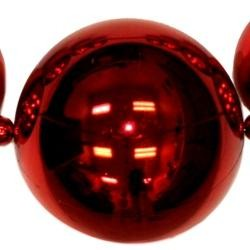 Big Balls Necklace: Metallic Red