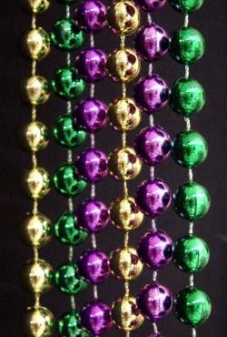 42in 6mm Round Metallic Purple/ Green/ Gold Beads