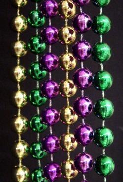 42in 6mm Round Metallic Purple/ Green/ Gold Beads