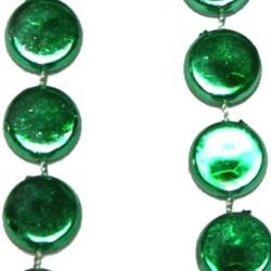 38in Green Hockey Puck Beads