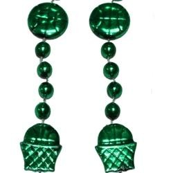 36in Metallic Green Basketball Net/ Basketball Beads
