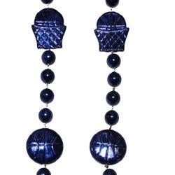 36in Metallic Navy Blue Basketball Beads