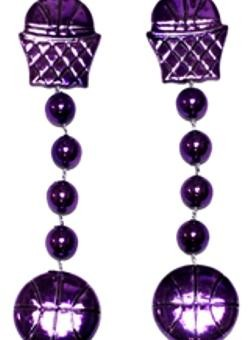36in Metallic Purple Basketball Beads