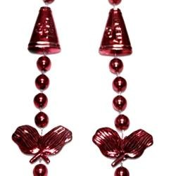 36in Metallic Burgundy Cheerleader Beads