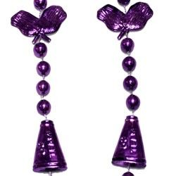 36in Metallic Purple Cheerleader Beads