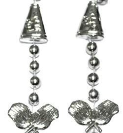 36in Metallic Silver Cheerleader Beads
