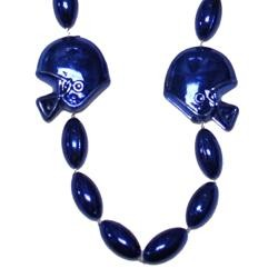 36in Metallic Blue Helmet / Football Beads