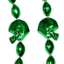 36in Metallic Green Helmet / Football Beads