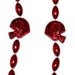 36in Metallic Red Helmet / Football Beads