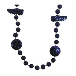 36in Metallic Navy Blue Soccer Beads