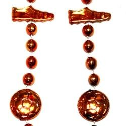 36in Metallic Orange Soccer Beads