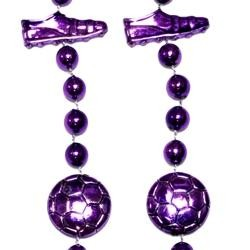 36in Metallic Purple Soccer Beads