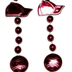 36in Metallic Burgundy Baseball Beads