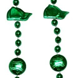 36in Metallic Green Baseball Beads