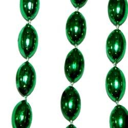 18mm 38in Green Football Beads