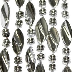 42in 23mm Metallic Silver Twist Beads