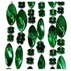 60in 23mm Metallic Green Twist Beads