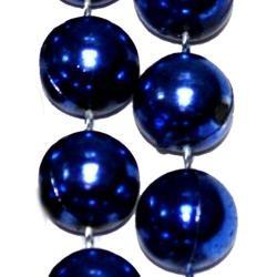 72in 16mm Round Metallic  Blue Beads