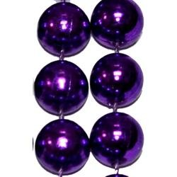 72in 16mm Round Metallic Purple  Beads