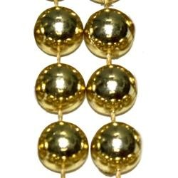 72in 18mm Round Metallic Gold Beads