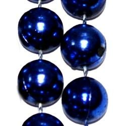 96in 16mm Round Blue Metallic Beads