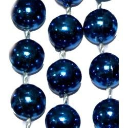 10mm 42in Metallic Blue Beads