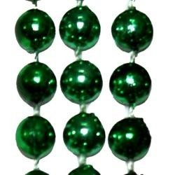 7mm 42in Metallic Green Beads