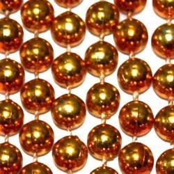 7mm 33in Metallic Orange Mardi Gras Beads