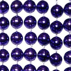 7mm 33in Round Purple Mardi Gras Beads