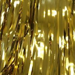 29in x 14ft Metallic Gold Fringe Table Skirt