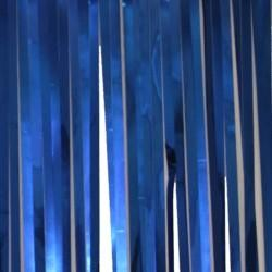 10ft x 15in Blue Metallic Fringe