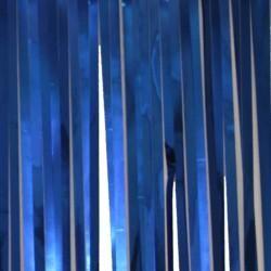 10ft x 15in Blue Metallic Fringe