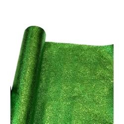 25in x 75 Feet Long Metallic Green Cracked Ice Rolls Float Decoration